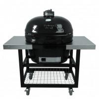 Металлический стол-тележка со столешницами для Гриля Primo Oval 200 JR
